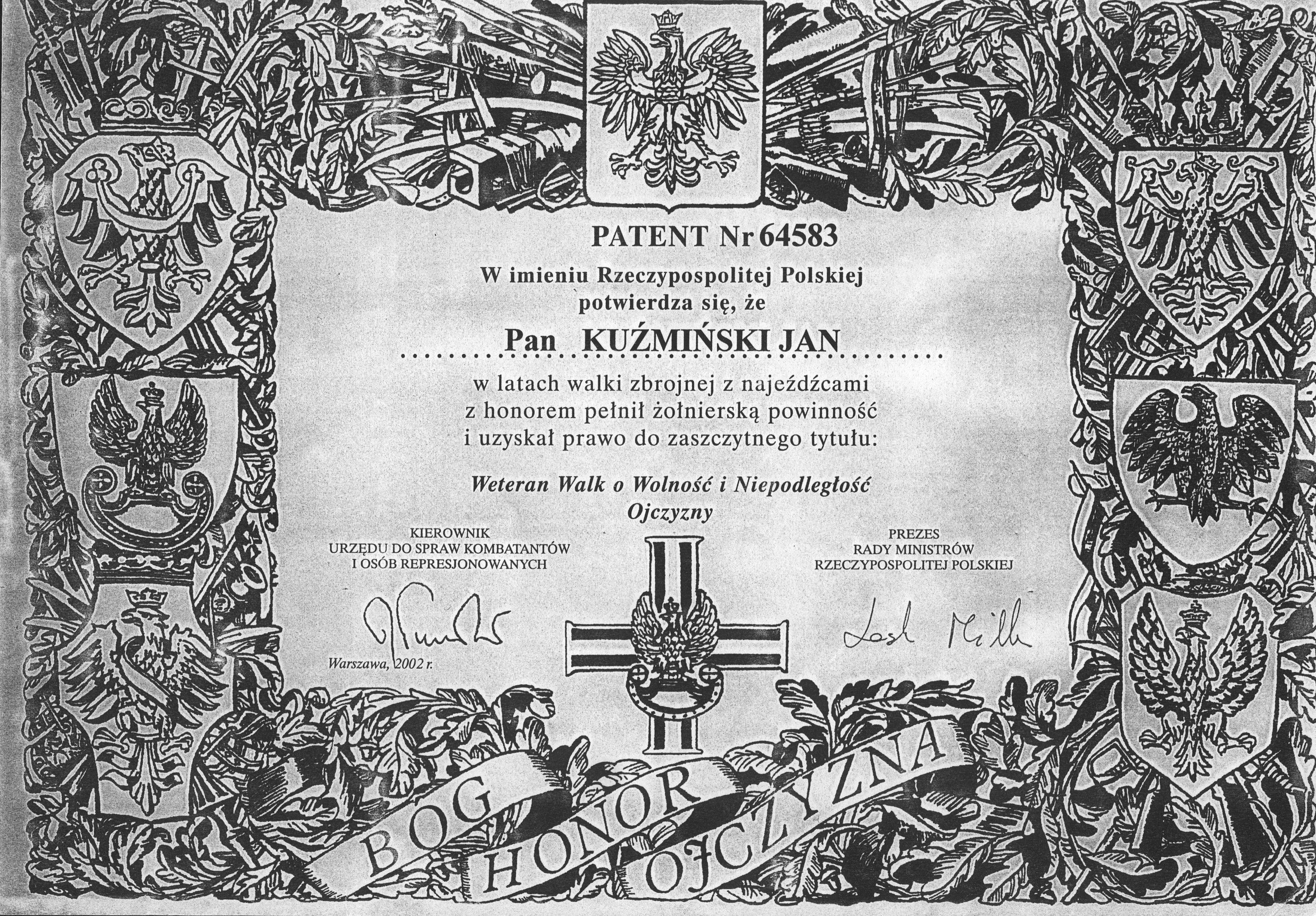 Z archiwum Czesława Kuźmińskiego