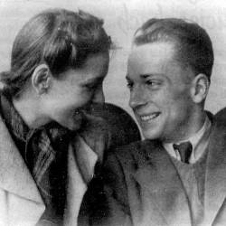 Antoni Michał Rościszewski z żoną Haliną.
