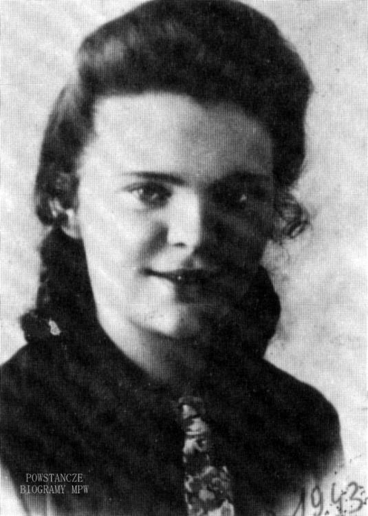 """Aniela Lau, po mężu Lipska, ps. """"Nela"""". Fot. nadesłał p. Radosław Parda."""