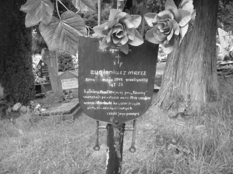 Mogiła Eugeniusza Marsza, Cmentarz  Komunalny w Pobiednej.  Fot. Jan Morgaś