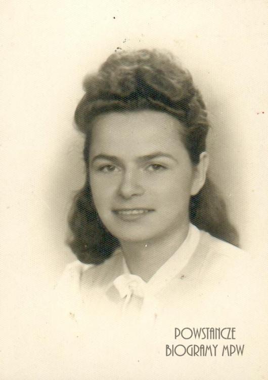 """Janina Zofia Opalińska ps. """"Czarna"""" (1923-1996). Fot. z archiwum rodzinnego Małgorzaty Sikorskiej - Maykowskiej."""