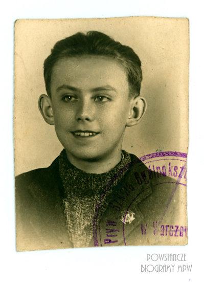 """Waldemar Nowakowski ps. """"Gacek"""". Fot. AR MPW"""