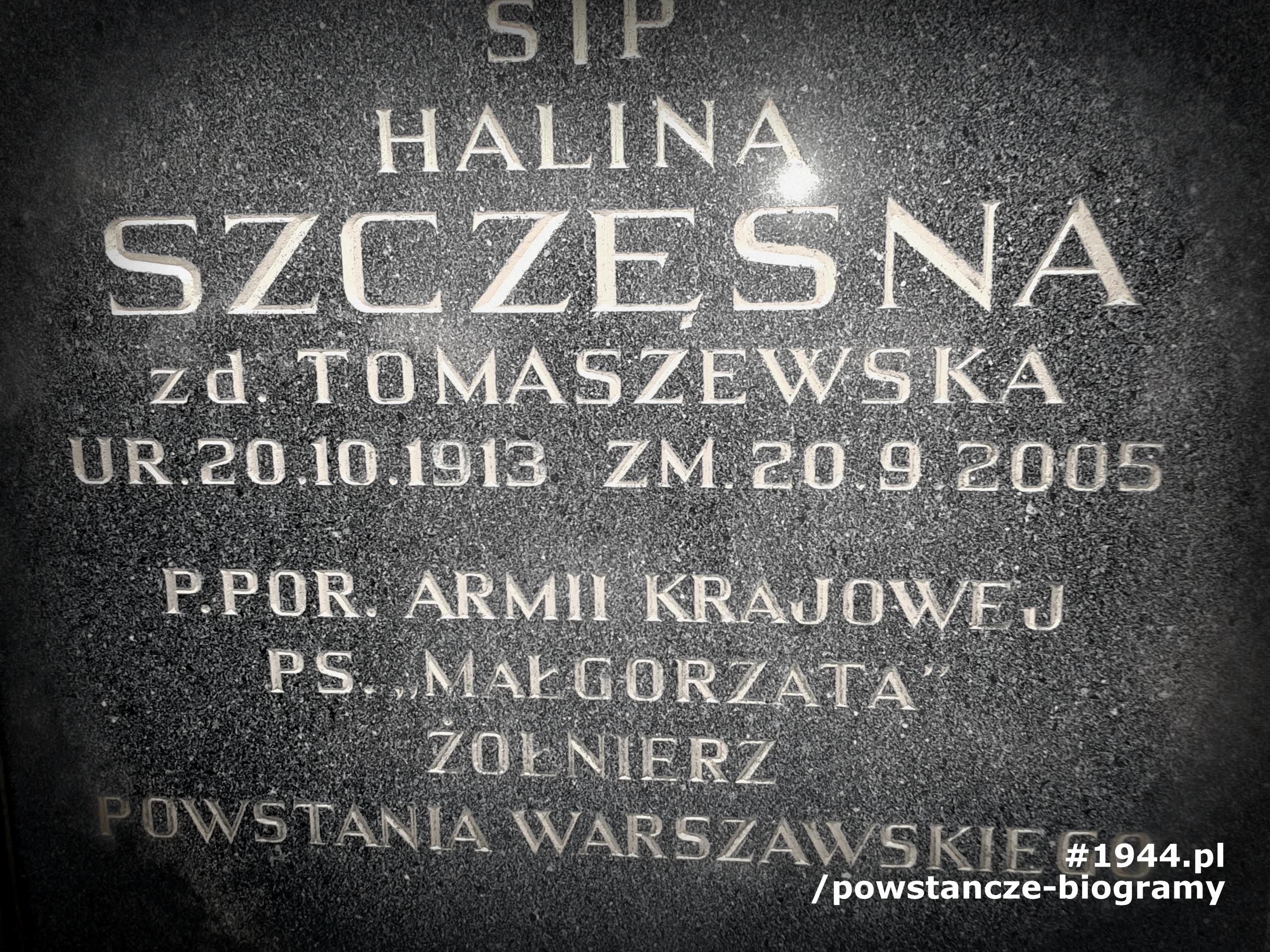 Mogiła Haliny Tomaszewskiej - Szczęsnej na Cmentarzu Witomińskim w Gdyni. Fot. Ewa i Mariusz Skrońscy