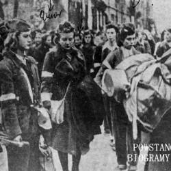 Od lewej Czesława Stawarska po mężu Wodyńska