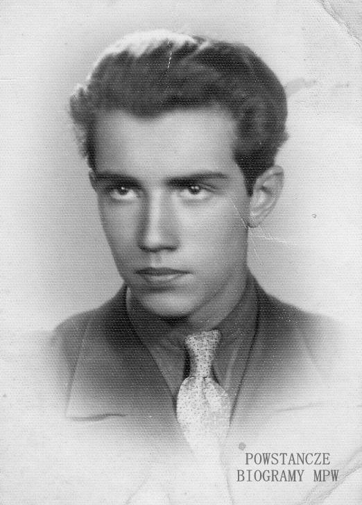 """Edward Piotr Janocha ps. """"Miriam"""" (1925-1944) <ul>  Fot. z archiwum rodzinnego Andrzeja Janochy, udostępnił Piotr Blak</ul>"""