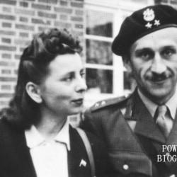 Genowefa Zofia Leśniewska i porucznik Zbigniew Kozak. Po ślubie - Niemcy, 1946. Fot. z archiwum rodzinnego Zbigniewa Kozaka/MPW
