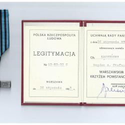 Warszawski Krzyż Powstańczy. Skan udostępniony za pośrednictwem Działu Historycznego MPW