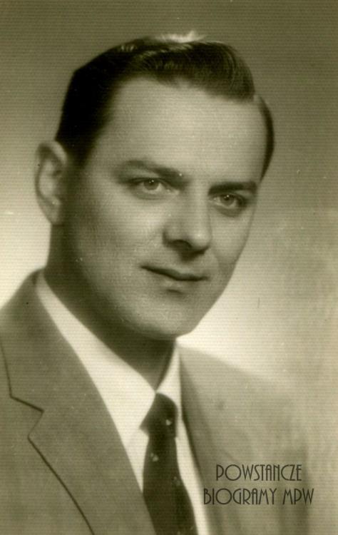"""Zdzisław Fedorowicz ps. """"Czarny"""" (1922-2003) Fot. archiwum rodzinne"""