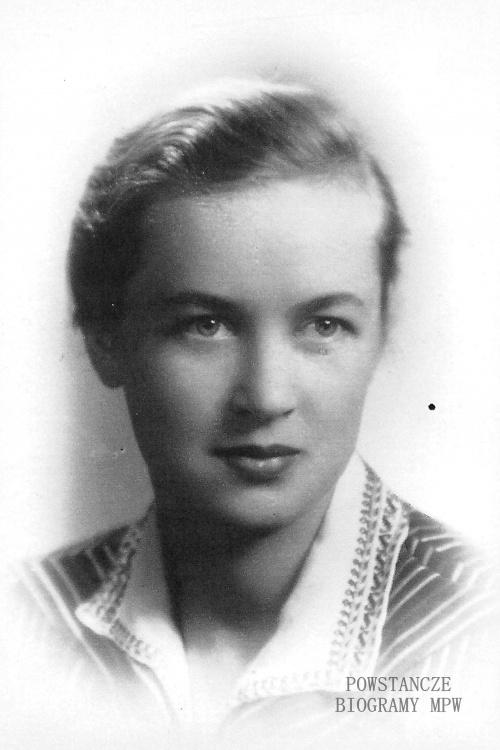 """sanit. Wanda Sierakowska, po mężu Siatecka ps. """"Wanda"""". Fot. archiwum rodzinne / AR MPW"""