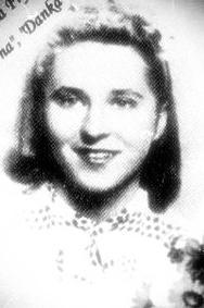 """Krystyna Frycz """"Danka"""" (1923-1944)<ul>  Fot. udostępniła M. Ciok</ul>"""