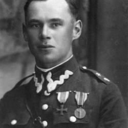 Edmund Hera jako podporucznik 9. pułku strzelców konnych