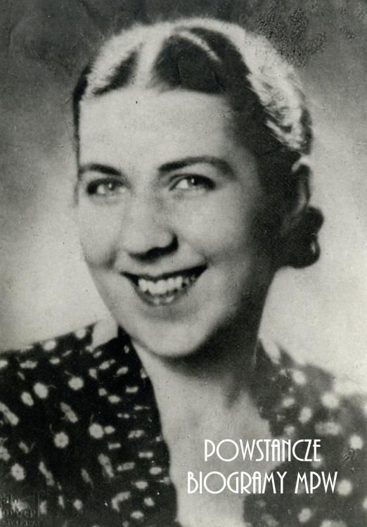 """kpt. Janina Tuwan ps. """"Ina"""" (1907-1959). Na zdjęciu dwa lata przed wybuchem wojny, w roku 1937 roku. Ze zbiorów Muzeum Powstania Warszawskiego, sygn. P/5463"""