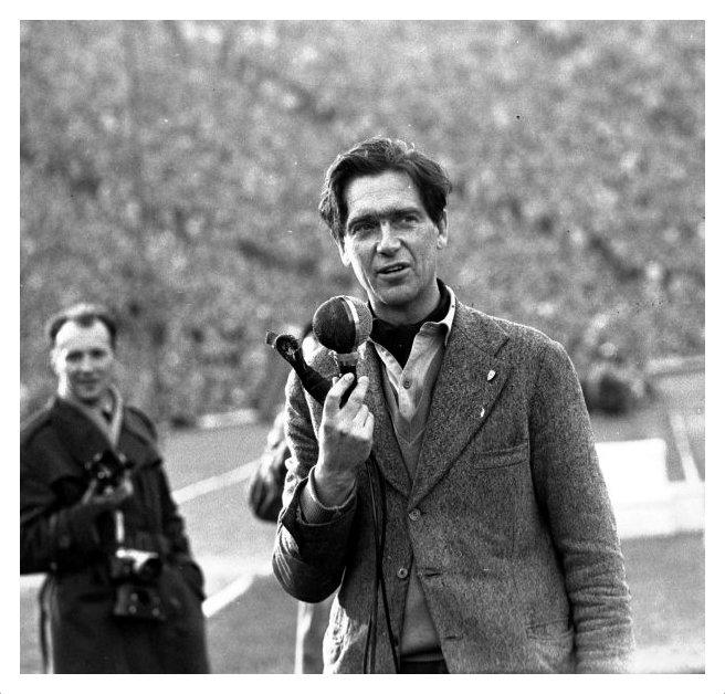 Bohdan Tomaszewski na  stadionie X-Lecia w 1962 podczas Wyścigu Pokoju. Fot. materiały prasowe