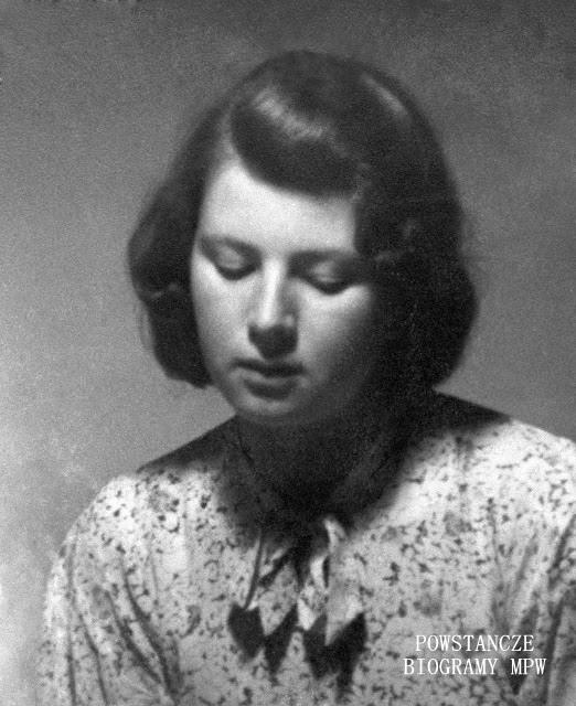"""Dorota Łempicka ps. """"Dorota"""" (1926-1944). Fot. AR MPW"""