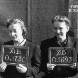 Fotografia z obozu jenieckiego w Fallingbostel XI B. 10 października 1944 r. Z numerem  0.1730 ppor. Zofia Nicerska
