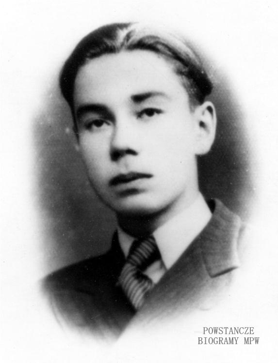 """Stanisław Paweł Michel ps. """"Staszek"""" (1925-1944). Fot. archiwum rodzinne."""
