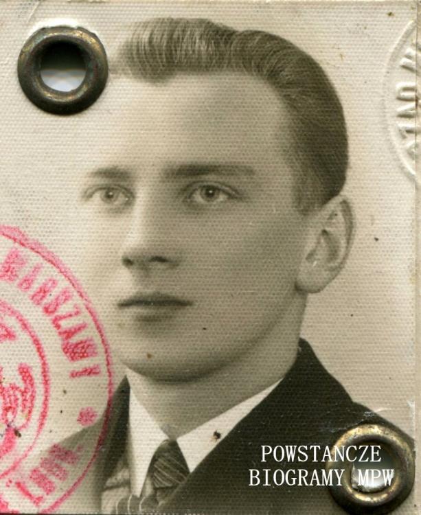 """Romuald Wojciech Stefańczyk """"Roman"""" (1917-1944). Fot. z archiwum rodzinnego, obecnie w zbiorach MPW"""