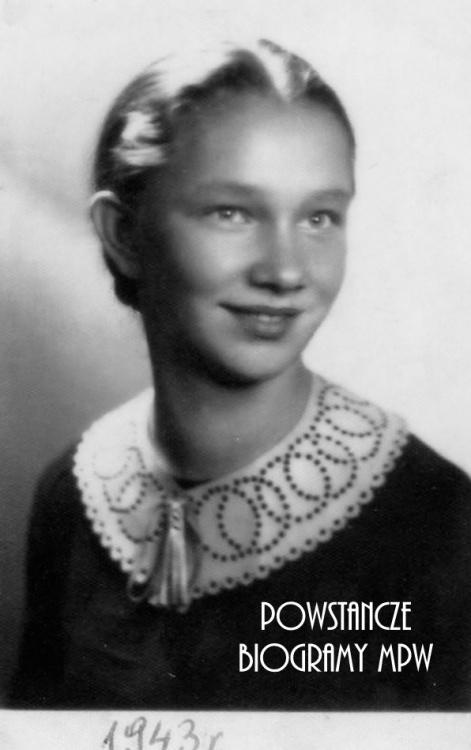 """Krystyna Żółcińska """"Grażyna"""" (1925-1987) Fot. archiwum rodzinne"""
