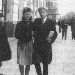 Halina z mężem Jerzym - zdjęcie okupacyjne