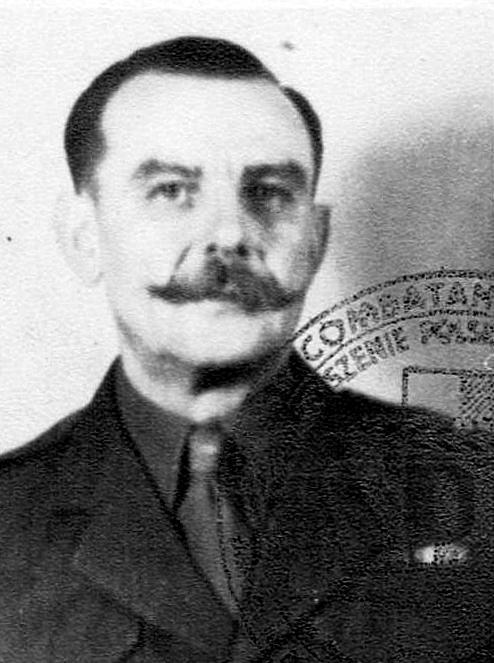 Zdjęcie legitymacyjne Hipolita Żywickiego (źródło: Irena Żywicka - Chuchla - archiwum rodzinne)