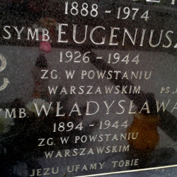 Mogiła symboliczna Eugeniusza Hanajczyka ps.