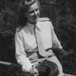 Wanda Wojnicz. Fotografia z archiwum rodzinnego syna  - p. Janusza Białowiejskiego
