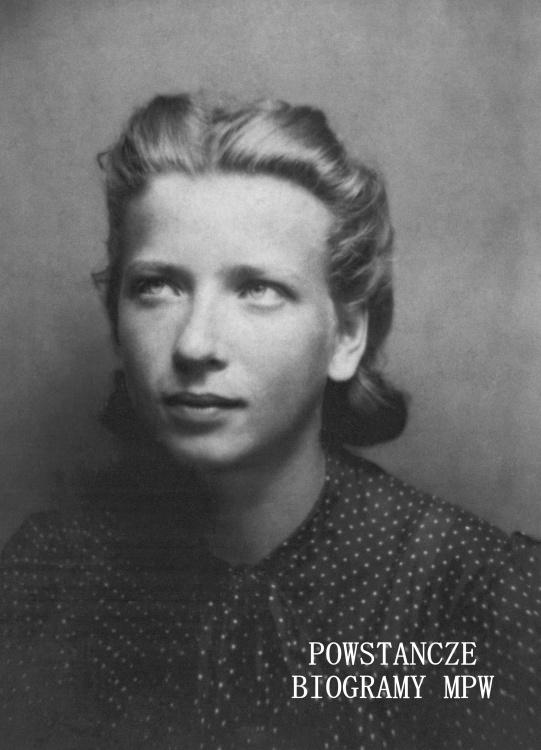 """Maria Waśniewska """"Marysia Biała"""" (1921-1980) Fot. AR MPW"""