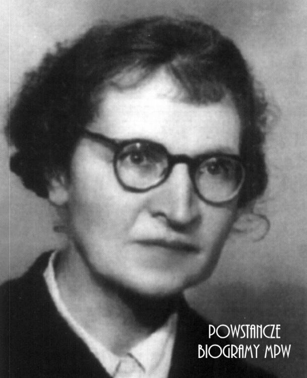 """Zofia Martenowska ps. """"Zi"""", """"Przemysława"""". <i>Fot. Encyklopedia Medyków Powstania Warszawskiego</i>"""