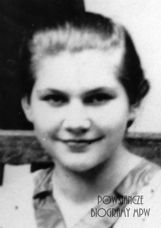 """Krystyna Wanda Walter z domu Skiba """"Jastrzębiec"""" (1924-1982). Fot. ze zbiorów Muzeum Powstania Warszawskiego, sygn. MPW-IP/5378"""