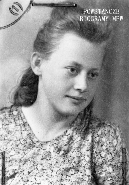 """Maria Wieczorek, po wojnie Gajowczyk ps.""""Agnieszka"""". Fot. ze zbiorów Muzeum Powstania Warszawskiego, sygn. P/8272"""