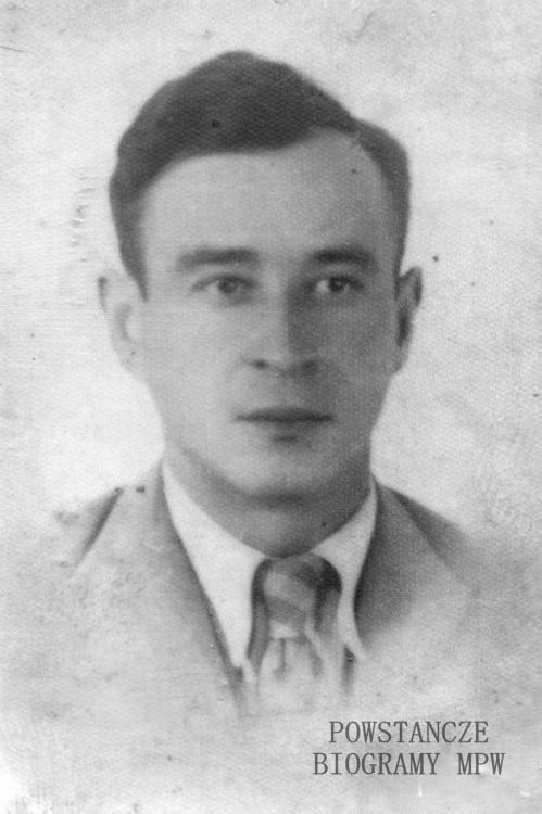 """Eugeniusz Antoni Olszewski ps. """"Marek"""" (1906-1944). Fot. z archiwum rodzinnego wnuka, p. Andrzeja Olszewskiego."""