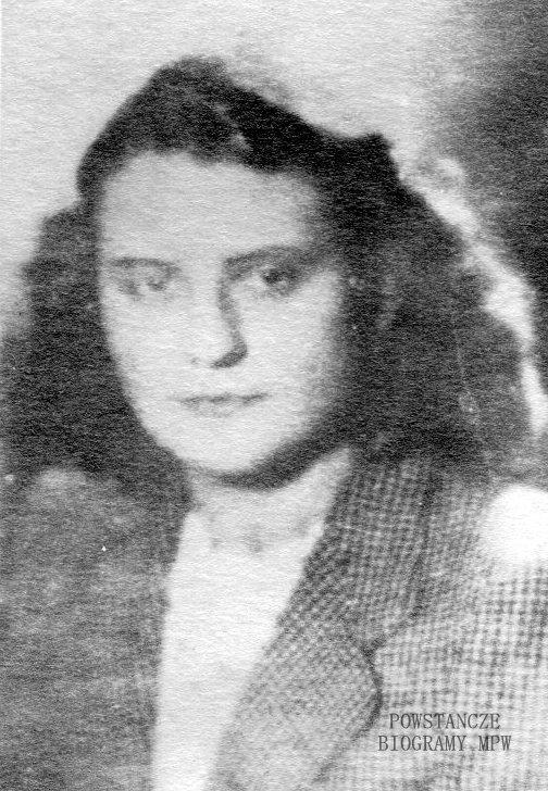 """Maria Bereda-Fijałkowska ps.""""Renata"""",  """"Lewandowska"""". Zdjęcie wykonane przed wojną. Z archiwum rodzinnego córki."""