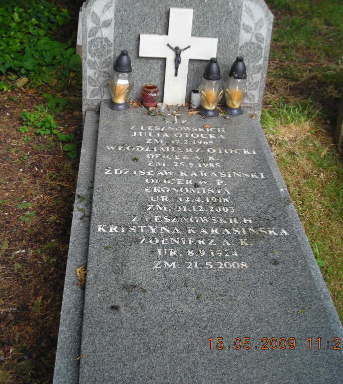 South Ealing Cemetery. Zdjęcie mogiły udostępniła p. Ewa Piasecka