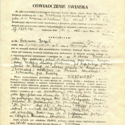 Oświadczenie Zenona Wiktorczyka ps.