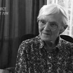 Danuta Zelman - Pawłowska  podczas wywiadu dla AHM w roku 2011. Fot. Archiwum Historii Mówionej MPW