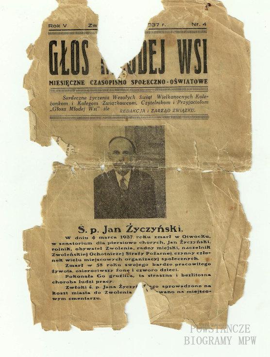 """Archiwalny numer """"Głosu Młodej Wsi"""" redagowanego przez Stanisława Podrygałłę. Fot. z archiwum prywatnego Małgorzaty Masalskiej"""