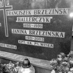 Grób Janiny Grabskiej [Brzezińskiej] z domu Borsuk ps.