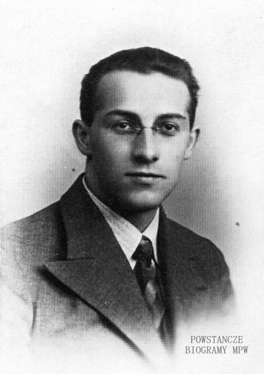 "ppor. Tadeusz Pastwa ps. ""Adolf"" (1909-1944). Fot. AR MPW"