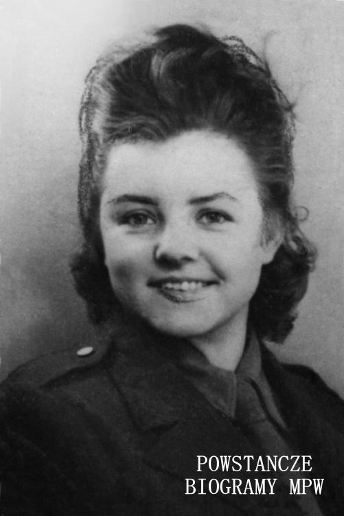 """Irena Danuta Strzałkowska, po mężu Burzyńska """"Danka"""" (1926-2008). Fot. archiwum prywatne"""