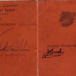 Tymczasowa legitymacja wystawiona w batalionie AK