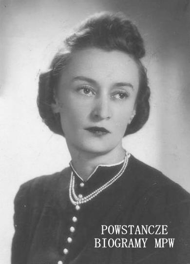 """strz. Irena Stefania Ungeheier z domu Kuligowska """"Drogomir"""", """"Irena""""  (1912-1944). Fot. udostępnił Sławomir Wróblewski"""
