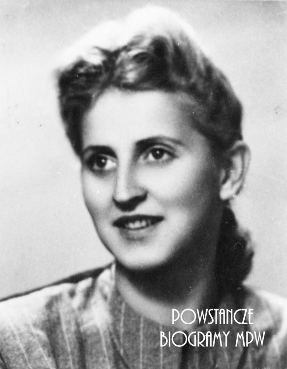 """Ligia Zofia Adamska """"Kurzawa"""", """"Wojtek"""" (1927-2000) Fot. ze zbiorów Muzeum Powstania Warszawskiego, sygn. P/3956"""