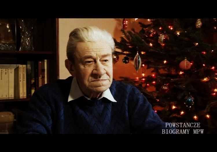 Mieczysław Hutnik podczas wywiadu dla Archiwum Historii Mówionej  w  2010 r. Fot AHM/MPW