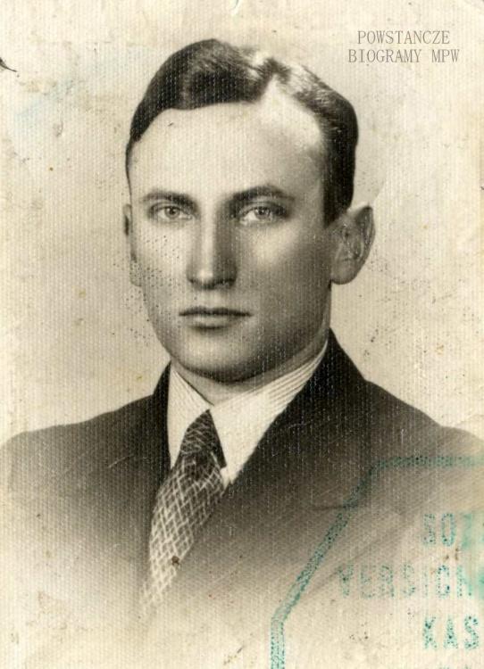 """kpr. pchor. Stefan Dotkiewicz ps. """"Szreniawa"""" (1904-1944) . Fot. z archiwum rodzinnego córki, p. Anny Pytlakowskiej z domu Dotkiewicz."""