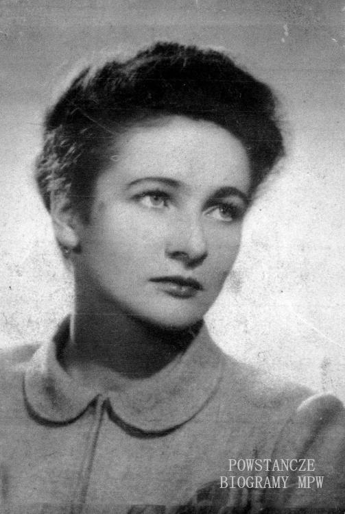 Alicja Pniewska, po mężu Sieciechowicz, 1946 rok. Fot. z archiwum rodzinnego Alicji Sieciechowicz przekazana przez Nią do zbiorów Muzeum Powstania Warszawskiego we wrześniu 2014 r.