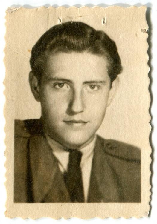 """Zbigniew Wolański ps. """"Wilczek"""" Fot. archiwum rodzinne Z. Wolańskiego."""