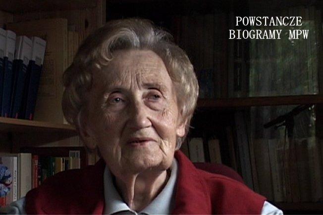 """Maria Danuta Jaczynowska """"Kowalik"""", """"Jadzia"""", """"353""""  (1928-2008). Na zdjęciu w roku  2007 podczas wywiadu dla Archiwum Historii Mówionej MPW"""