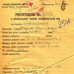 Polski Czerwony Krzyż, L. strat 2501