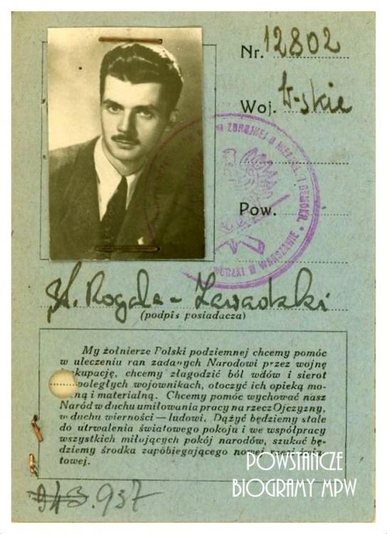"Stanisław Rogala-Zawadzki ps. ""Pantera"" (1926-1987). Fot. AR MPW"