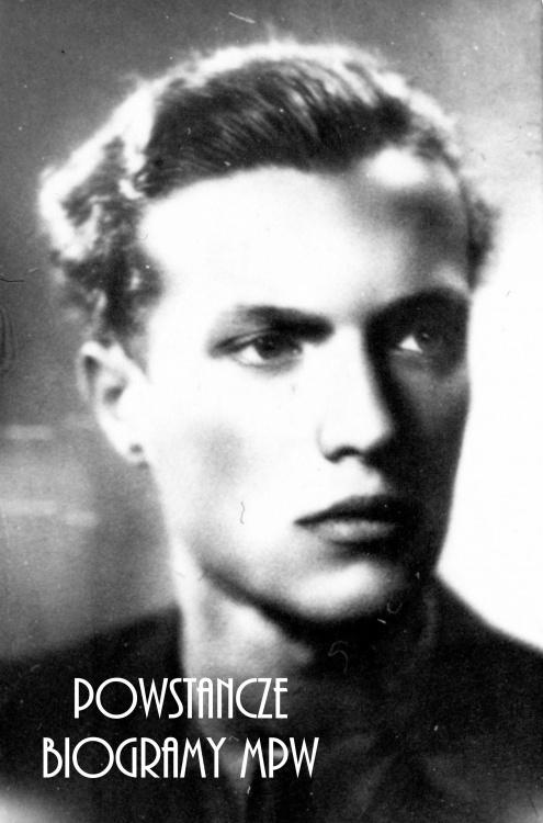 """plut. pchor. Jerzy Tyczyński ps. """"Jur"""" (1923-1944). Fot. portretowa ze zbiorów Muzeum Powstania Warszawskiego, sygn. P/8277"""